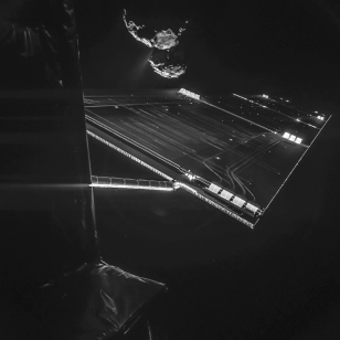 Rosetta mission selfie a distance of about 16 km from the surface of 67P/C-G. (ESA/Rosetta/Philae/CIVA)