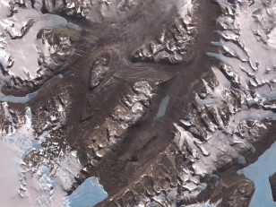 The McMurdo Dry Valleys are a row of valleys west of McMurdo Sound, Antarctica. Scientists consider the Dry Valleys to be the closest of any terrestrial environment to Mars. (NASA/GSFC/METI/ERSDAC/JAROS, and U.S./Japan ASTER Science Team)