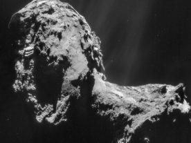 Rosetta's NavCaM snapped this shot of Comet 67P/Churyumov-Gerasimenko on November 20, 2014 ((C) ESA/Rosetta/NAVCAM – CC BY-SA IGO 3.0)