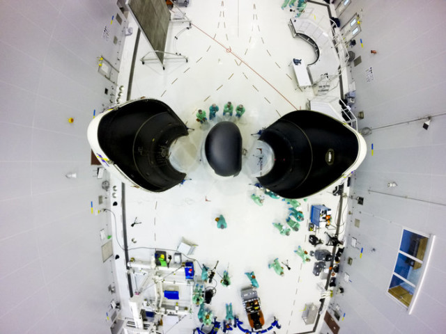 The European Space Agency's IXV Intermediate eXperimental Vehicle, which is seen here on its payload adapter, is being prepared for launch on 1/28/125 at the Spaceport in Kourou, French Guiana. (©ESA/M. Pedoussaut)