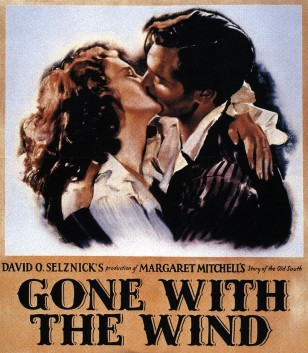 Film poster for Gone with the Wind (Public Domain via Wikimedia Commons)