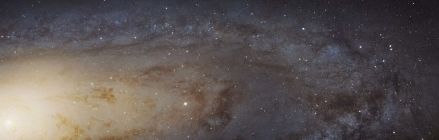 This is a 61,000 light year long stretch of the Andromeda Galaxy, located more than 2 million light years away. Released on 1/6/15, this is the largest NASA Hubble Space Telescope image ever assembled.  (Reuters/NASA/ESA)
