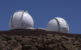 W. M. Keck Observatory located near the summit of Mauna Kea in Hawaii (T. Wynne/JPL)
