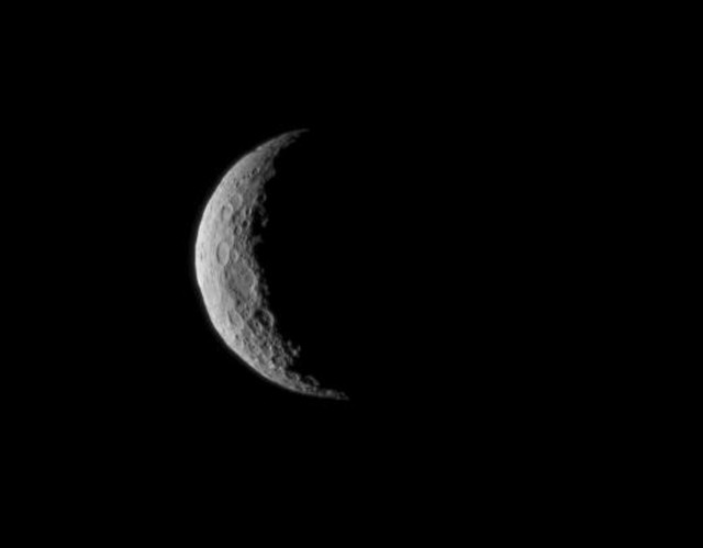 A photo of Ceres that was taken by NASA's Dawn spacecraft on 3/1/15, just a few days before the mission achieved orbit around the previously unexplored dwarf planet to begin a 16-month exploration.  The Dawn spacecraft was about 48,000 kilometers away from Ceres when this photo was taken. (NASA)