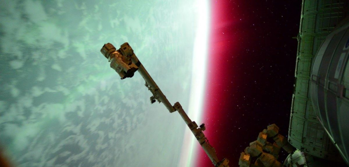A red aurora as seen from the International Space Station and tweeted by astronaut Scott Kelly on June 22, 2015. (NASA)