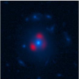 A Gravitationally-lensed distant galaxy. (Vieira et al., ALMA (ESO, NAOJ, NRAO), NASA, NRAO/AUI/NSF)