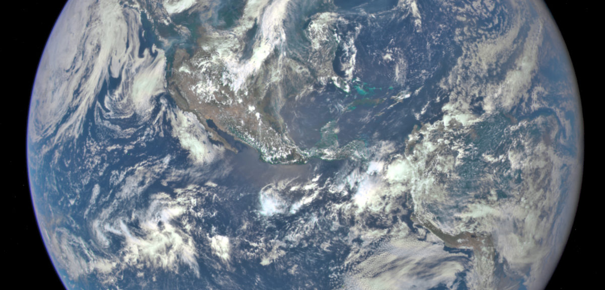 """There's no place like home!"" A NASA camera on the Deep Space Climate Observatory satellite has returned its first view of the entire sunlit side of Earth from one million miles away. (NASA)"