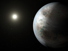 Artist's concept depicts one possible appearance of the newly discovered exoplanet Kepler-452b, (NASA/JPL-Caltech/T. Pyle)
