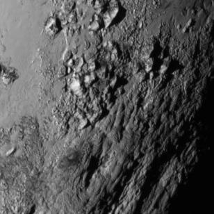 New Horizons captured this close-up image of Pluto's surface (NASA-JHUAPL-SwRI)