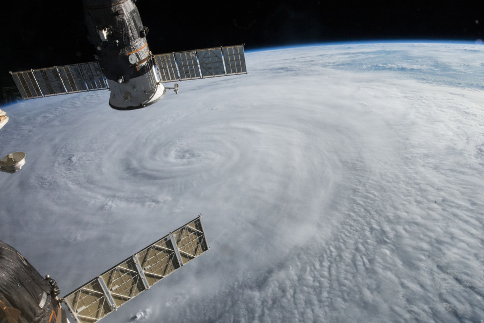 The International Space Station crew grabbed this photo of Typhoon Soudelor as it advanced on Taiwan 8/5/14 (NASA)