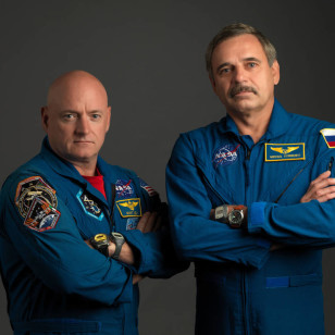 On Sept. 15, NASA astronaut Scott Kelly and Russian cosmonaut Mikhail Kornienko reached the halfway point of the first one-year mission to the International Space Station. (NASA)