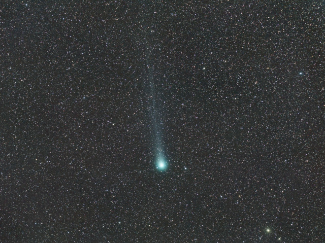 Comet Lovejoy (C/2014 Q2) on 22 Feb. 2015.  (Fabrice Noel)