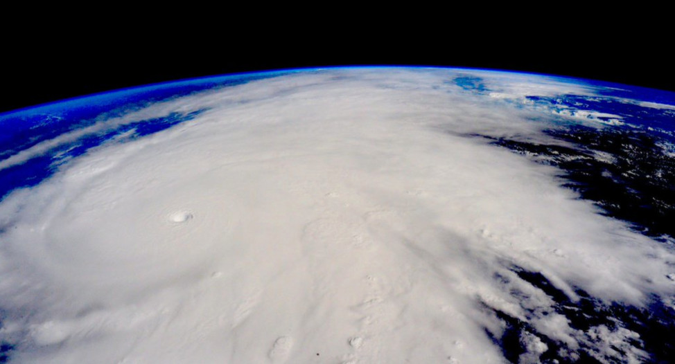 This photo of the category 5 Hurricane Patricia was taken from the International Space Station on 10/23/15 when it made landfall in Mexico. According to weather officials, Patricia was the strongest recorded hurricane in the Western Hemisphere. (Scott Kelly/NASA)