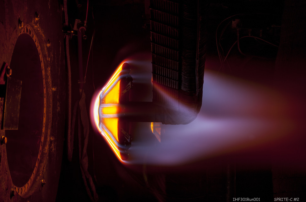 On 10/7/15 NASA announced that it had successfully completed testing on heat shields (such as the one pictured here)  that would be used on future Mars exploration vehicles. (NASA)