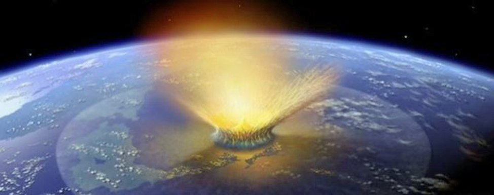 Asteroid impacting Earth (NASA)