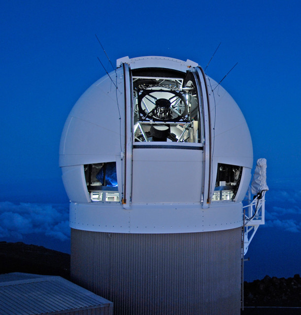 The Panoramic Survey Telescope & Rapid Response System (Pan-STARRS) 1 telescope on Maui's Mount Haleakala, Hawaii has produced the most near-Earth object discoveries of the NASA-funded NEO surveys in 2015. (University of Hawaii Institute for Astronomy/Rob Ratkowski)
