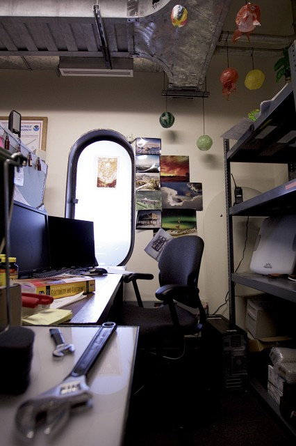 The author's desk at work. (Photo by Hunter Davis)