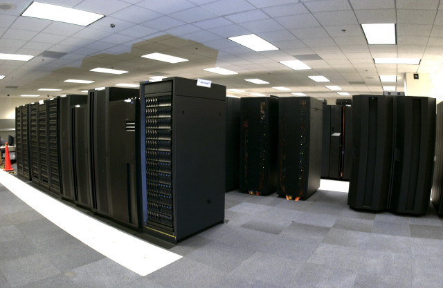 One of NOAA's two new supercomputers used for climate and weather forecasts. (NOAA)