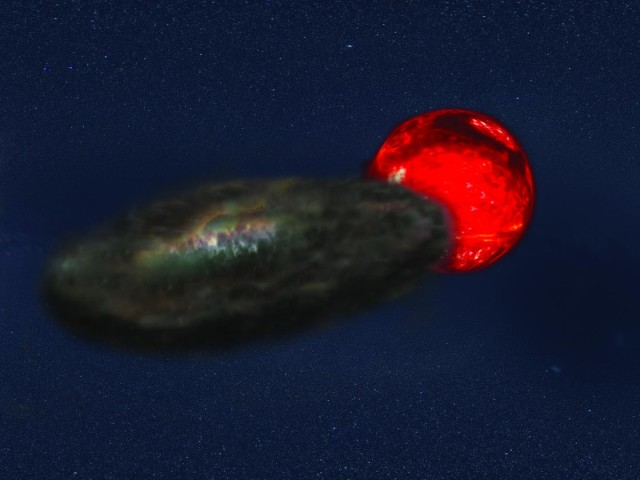 Artist conception of binary star system TYC-2505-672-1. (Jeremy Teaford, Vanderbilt University)