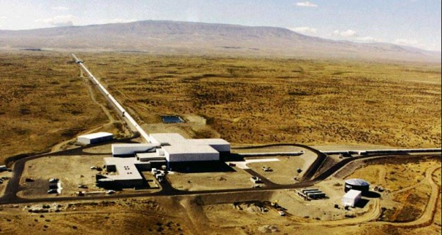 Aerial view of LIGO Observatory in Hanford, Washington (LIGO Laboratory)