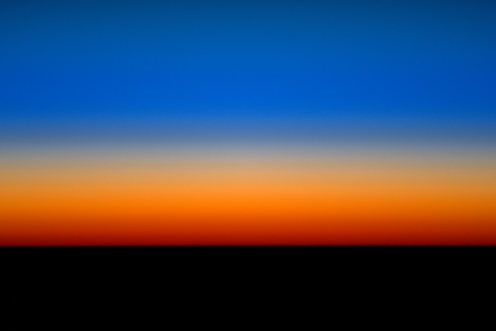 "ESA Astronaut Tim Peake shared this image he took on March 21, 2016, from the International Space Station on Facebook.  He commented: ""Every so often our orbit lets us enjoy a longer sunrise and sunset - more time to capture the spectacular colours!"" (© ESA/NASA)"