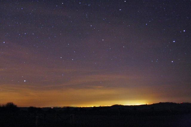 Light pollution over Kent, England (Chris Isherwood via Flickr/Creative Commons)
