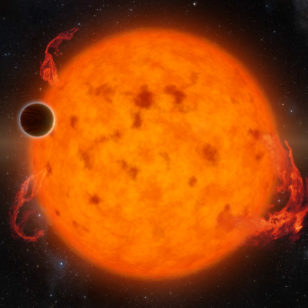 Artist rendering of young Neptune-like planet K2-33 b (NASA/JPL-Caltech)