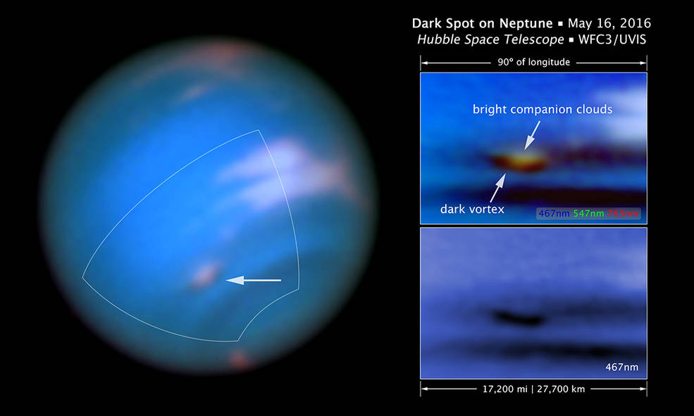 Hubble Spots Mysterious Vortex on Neptune – Science World