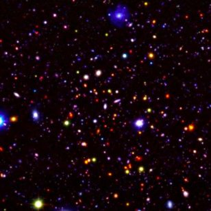 An image of a small section (0.4 percent) of the UDS field. Most of the objects in the image are very distant galaxies, observed as they were over 9 billion years ago. (Omar Almaini, University of Nottingham)