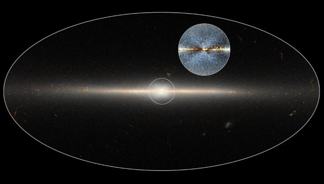 NASA's Wide-field Infrared Survey Explorer (WISE) mission observed and gathered data of the entire sky twice in 2010. Astronomers then used the data to find the X-shaped structure in the bulge of the Milky Way. (NASA/JPL-Caltech/D.Lang)