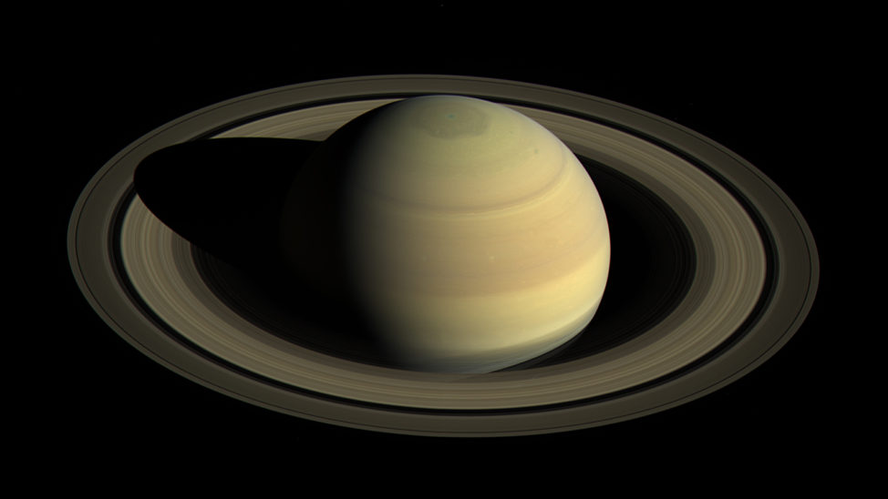 This image shows Saturn's northern hemisphere in 2016, as that part of the planet nears its northern hemisphere summer solstice in May 2017. (NASA/JPL-Caltech/Space Science Institute)
