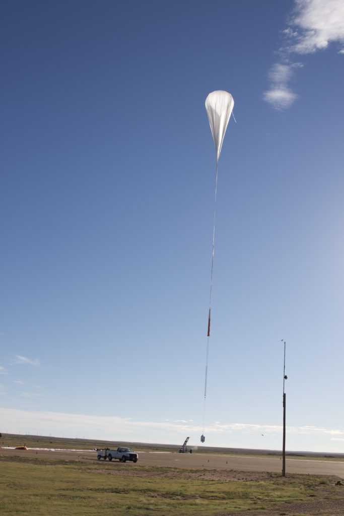 Up up and away! The 3rd of six Jet Propulsion Laboratory Remote payload flights was launched on 9/27/16, from NASA's Scientific Balloon Launch Site at Fort Sumner, New Mexico. JPL's Remote mission is an upper atmosphere research experiment that will help better understand stratospheric chemistry and the stability of the ozone layer. (NASA/JPL)
