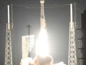NOAA's GOES-R satellite is launched into space from the Cape Canaveral Air Force Station in Florida. (NASA/Kim Shiflett)