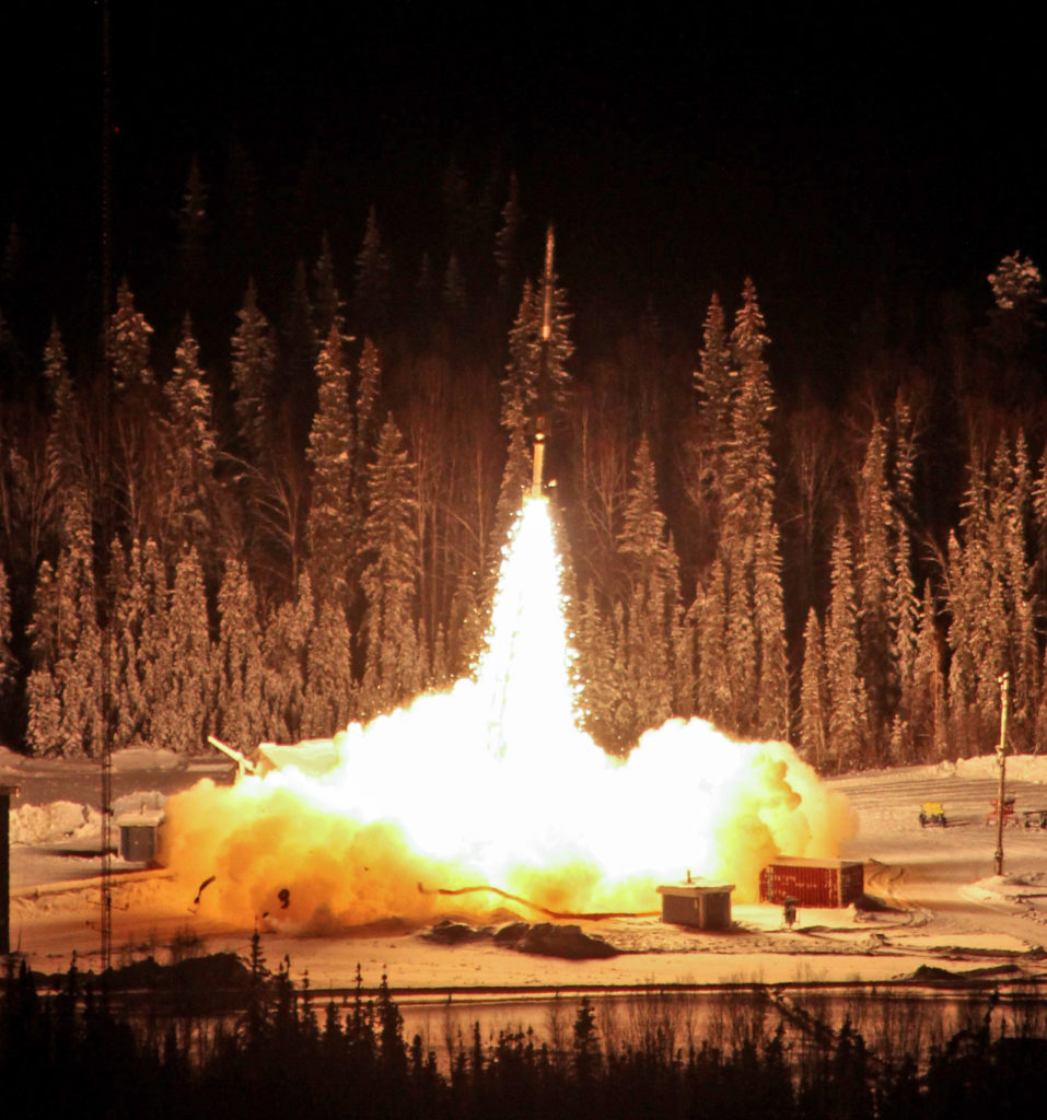 NASA launched a sounding rocket into the Alaskan night sky on January 27. The rocket, launched from the Poker Flat Research Ranger in Alaska, carried an experiment to measure nitric oxide in the polar sky. (NASA)