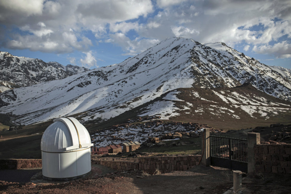 Taken on 3/9/17, here's a photo of a telescope at the Oukaimeden Observatory, located in the High Atlas Mountains south of Marrakech, Morocco. Using a robotic telescope this observatory was participated in the recent discovery of seven Earth-size planets orbiting a nearby star. Scientists say that some of exoplanets could support life. (AP)