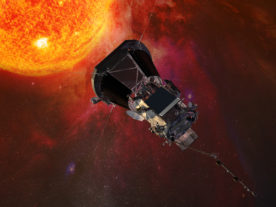 NASA plans to send a spacecraft to within 6.5 million kilometers of the sun's surface next summer. Here's an artistic rendering of the Parker Solar Probe heading toward the Sun. On May 31, the spacecraft was named to honor astrophysics Eugene Parker who discovered the solar wind in 1958. (Johns Hopkins University Applied Physics Laboratory).