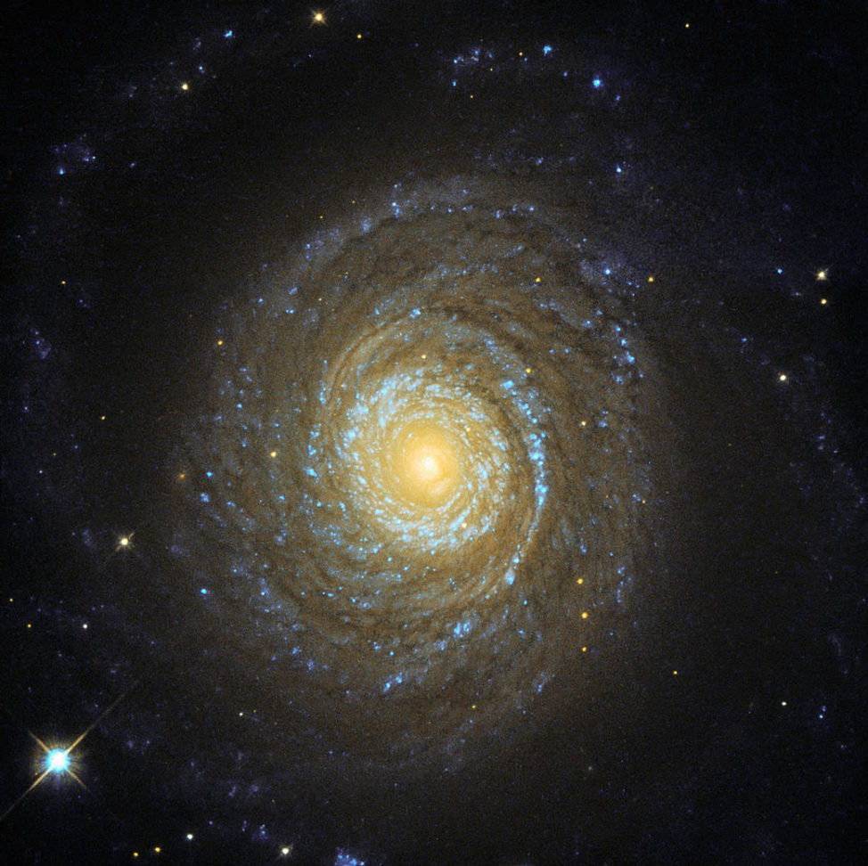 This is a NASA/ESA Hubble Space Telescope image of Galaxy NGC 6753 was released on September 18th. This galaxy is said to be one of only two known spiral galaxies that were both massive enough and close enough to permit detailed observations of their galactic coronas, which can only be detected by their X-ray emissions. (NASA/ESA/Hubble)
