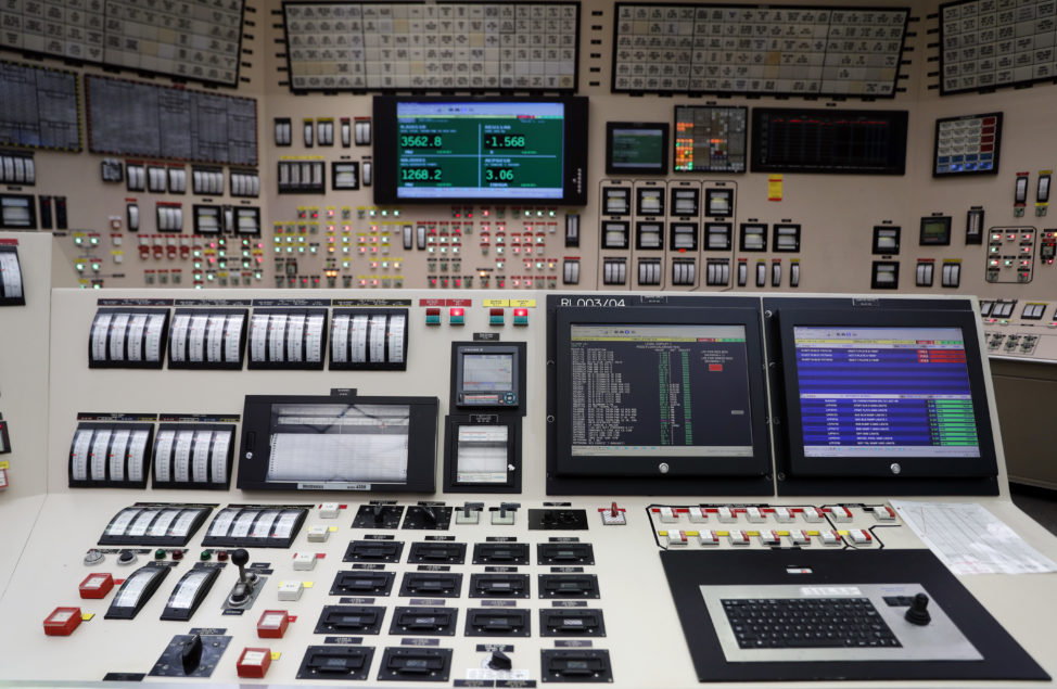 This is a control room simulator used for training at the Callaway Energy Center, in Reform, Missouri on 10/19/17. Missouri's only nuclear plant is currently shut down for scheduled maintenance while it undergoes a repair project that includes the first overhaul of its main generator since the plant began operating in 1984. (AP)