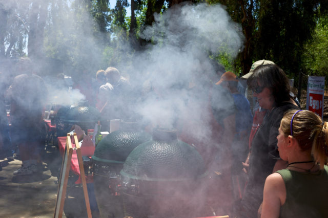 Standing around a smoking barbeque. (Jon Callas/Creative Commons Attribution 2.0 Generic via Flickr)