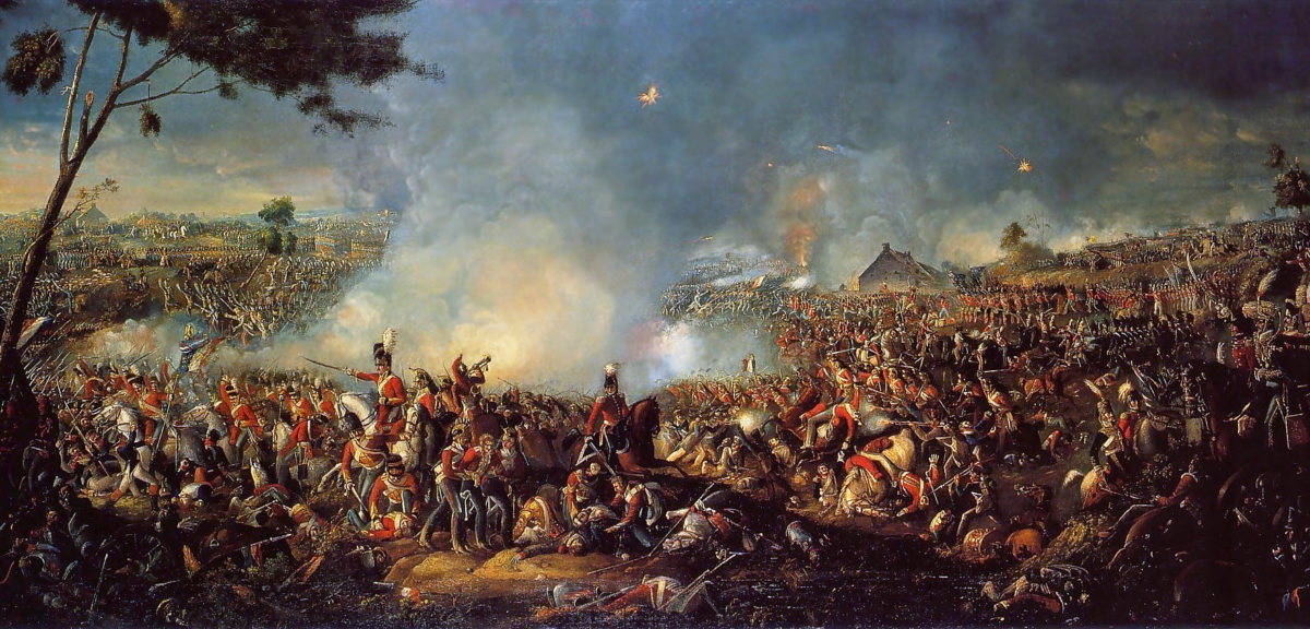The Battle of Waterloo. Painting by William Sadler (Wikimedia Commons)