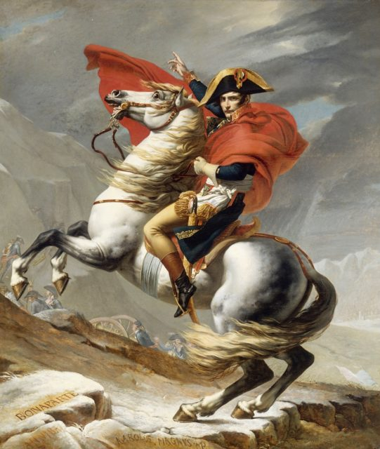 Napoleon Bonaparte (1769-1821). Painting by Jacques Louis David (Wikimedia)
