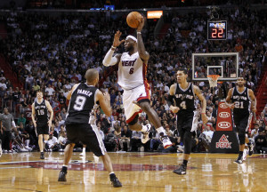 LeBron James in action against the San Antonio Spurs Photo: Reuters