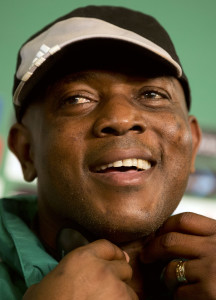 Stephen Keshi didn't smile over his salary problems in 2013. Photo: AP