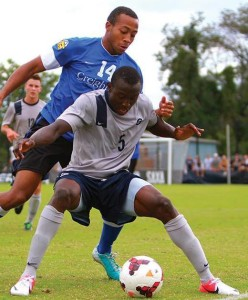 Joshua (#5) in action for Georgetown in a match against Creighton University.