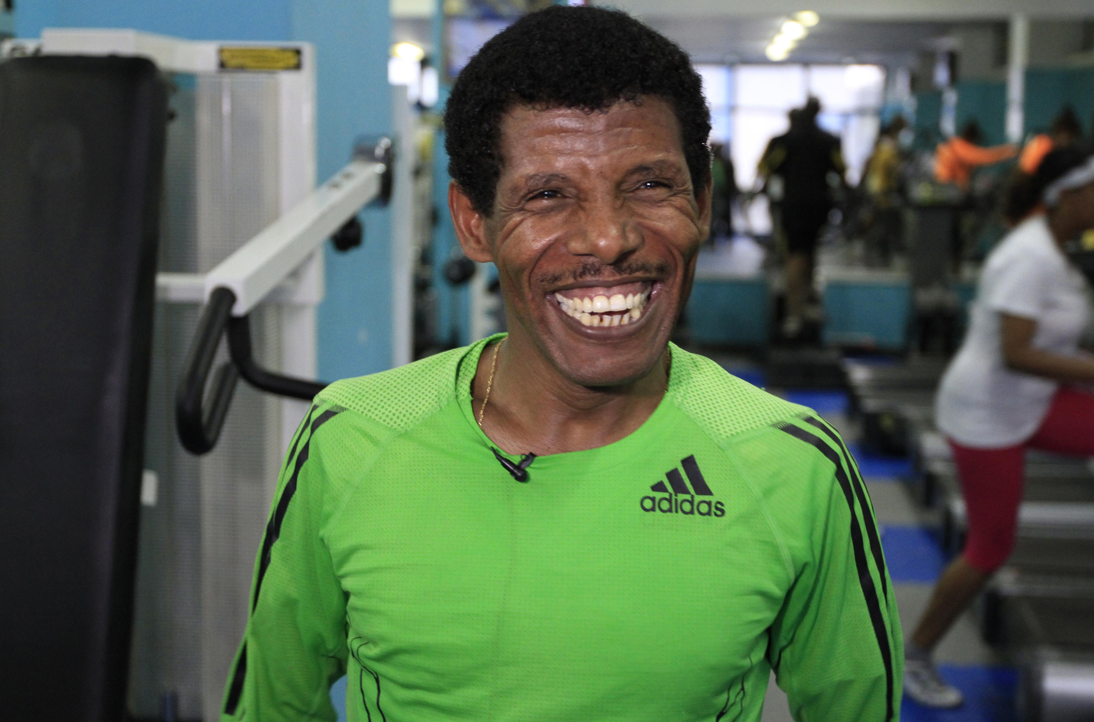 haile gebrselassie sets the pace in london � sonny side of