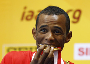 Ayanleh Souleiman is Djibouti's first gold medalist at a world athletics championship. Photo: Reuters