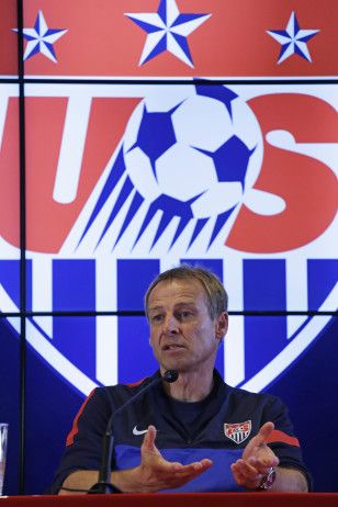 The USA's World Cup coach Juergen Klinsmann. Photo: AP