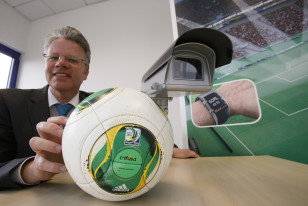 GoalControl CEO Dirk Broichhausen. Photo: Reuters