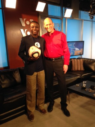 Sonny and Georgetown University men's soccer player Joshua Yaro