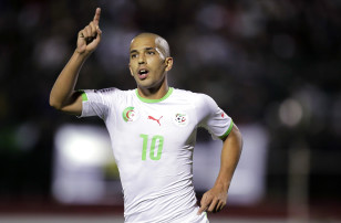 Midfielder Sofiane Feghouli and the Desert Foxes of Algeria are bidding for their first Nations Cup title in 25 years. Photo: Reuters